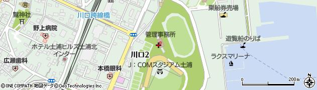 茨城県土浦市川口周辺の地図