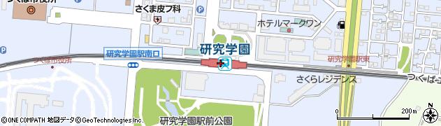 茨城県つくば市周辺の地図
