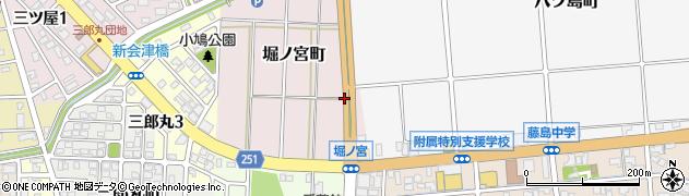 福井県福井市堀ノ宮町周辺の地図