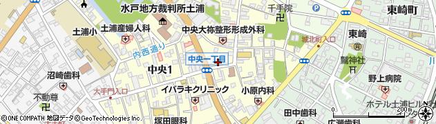 マミークリーニング中央店周辺の地図
