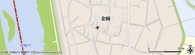 茨城県境町(猿島郡)金岡周辺の地図