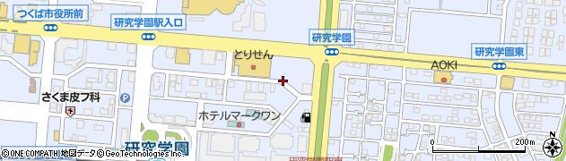 茨城県つくば市研究学園周辺の地図