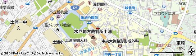 公文式中央教室周辺の地図