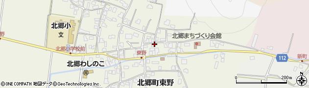 福井県勝山市北郷町東野周辺の地図