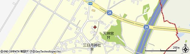 茨城県つくば市吉瀬周辺の地図