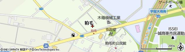 茨城県土浦市粕毛周辺の地図