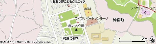 茨城県土浦市おおつ野周辺の地図