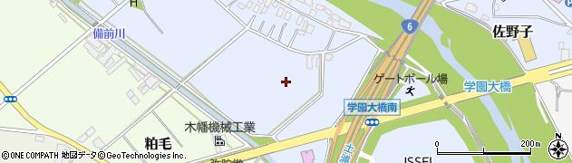 茨城県土浦市佐野子周辺の地図