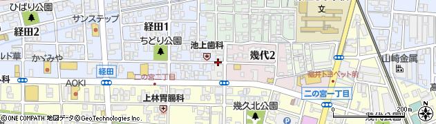 福井県福井市経栄周辺の地図