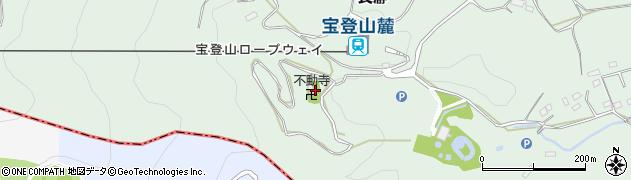 長瀞不動寺周辺の地図