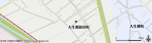 茨城県常総市大生郷新田町周辺の地図