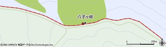 八子ケ峰周辺の地図