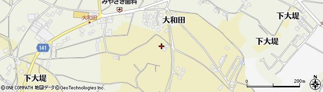 茨城県かすみがうら市下大堤周辺の地図