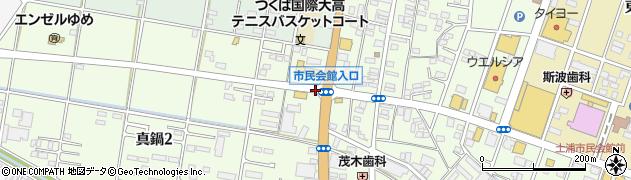 茨城県土浦市真鍋周辺の地図