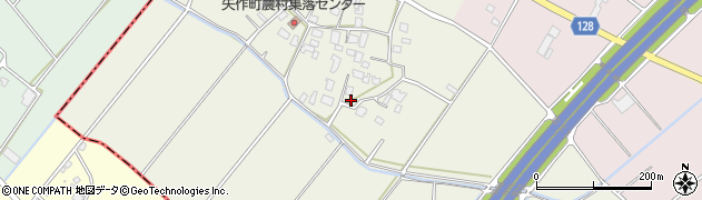 茨城県土浦市矢作周辺の地図