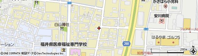 福井県福井市高柳周辺の地図