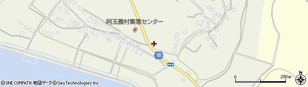 茨城県鉾田市阿玉周辺の地図