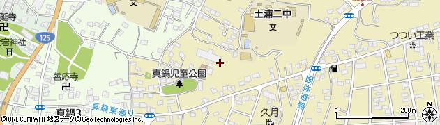 茨城県土浦市東真鍋町周辺の地図