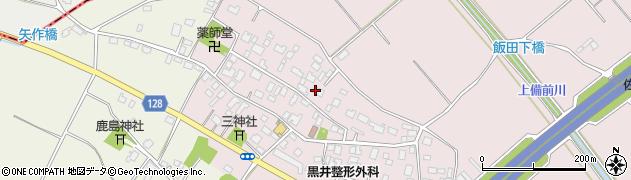 茨城県土浦市飯田周辺の地図