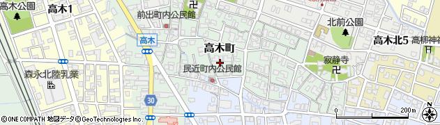 福井県福井市高木町周辺の地図