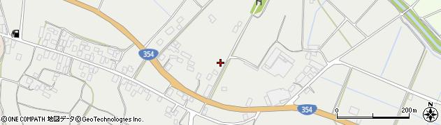 茨城県行方市内宿周辺の地図