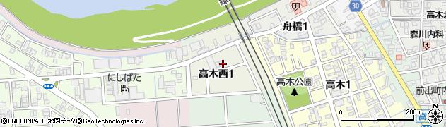 福井県福井市高木西周辺の地図