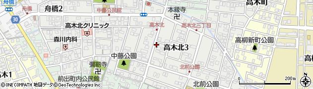 福井県福井市高木北周辺の地図