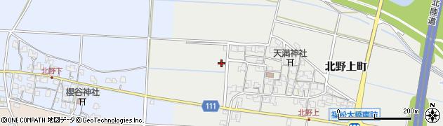 福井県福井市北野上町周辺の地図