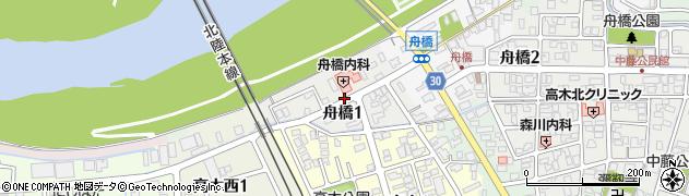 福井県福井市舟橋周辺の地図