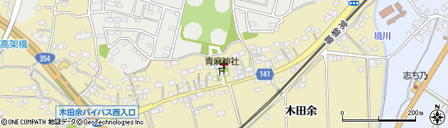 青麻神社周辺の地図