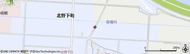 福井県福井市北野下町周辺の地図