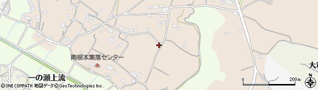 茨城県かすみがうら市南根本周辺の地図