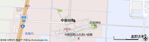 福井県福井市中新田町周辺の地図