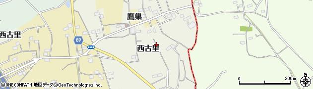 埼玉県大里郡寄居町西古里周辺の地図