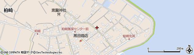 茨城県かすみがうら市柏崎周辺の地図