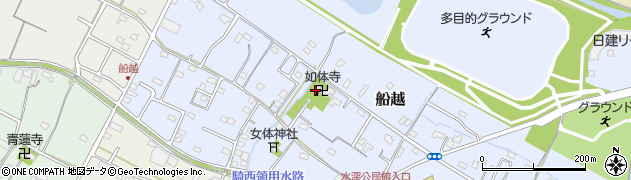 如体寺周辺の地図