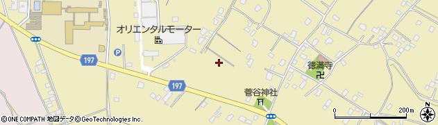 茨城県土浦市菅谷町周辺の地図