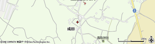茨城県行方市成田周辺の地図