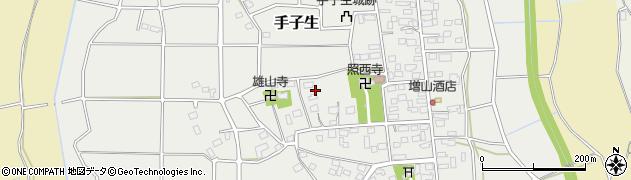 茨城県つくば市手子生周辺の地図