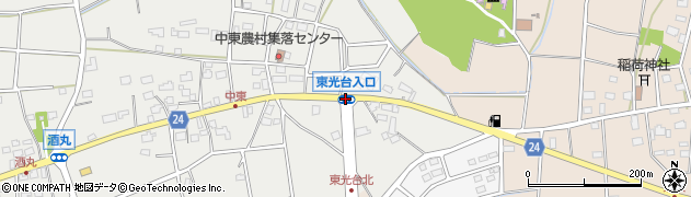 東光台入口周辺の地図
