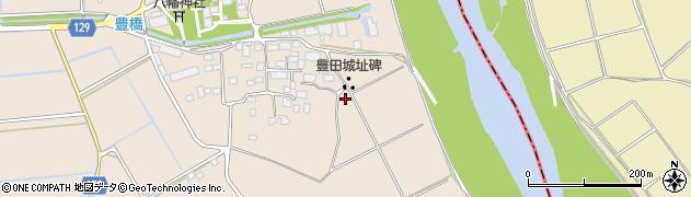 茨城県常総市本豊田周辺の地図