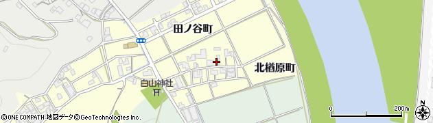 福井県福井市北楢原町周辺の地図