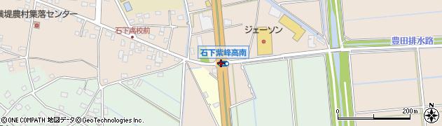 石下高校南周辺の地図