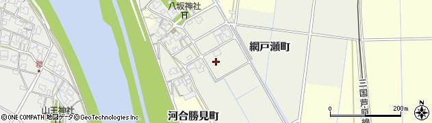 福井県福井市網戸瀬町周辺の地図