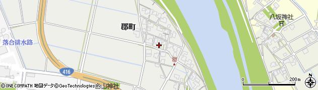 福井県福井市郡町周辺の地図