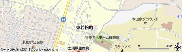 茨城県土浦市東若松町周辺の地図