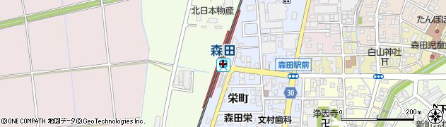 福井県福井市周辺の地図