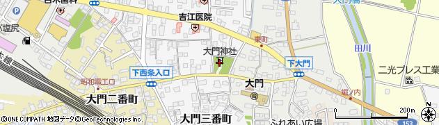 大門神社周辺の地図