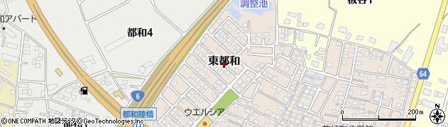茨城県土浦市東都和周辺の地図