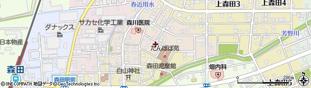 福井県福井市下森田桜町周辺の地図